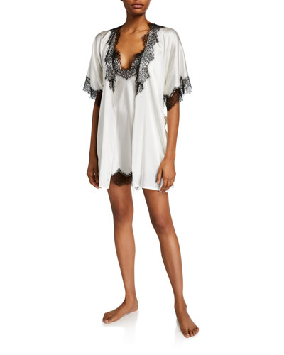 Arabella Lace-Trim Short Robe and Matching Items