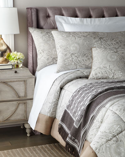 Quilted Paisley King Comforter Set