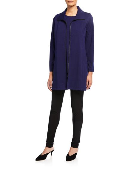 Caroline Rose Zip-Front Ponte Luxe Walking Jacket
