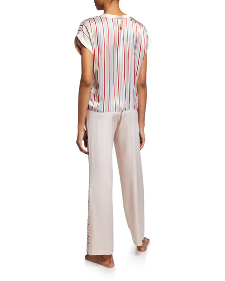 Morgan Lane Yeva Striped Pajama Top