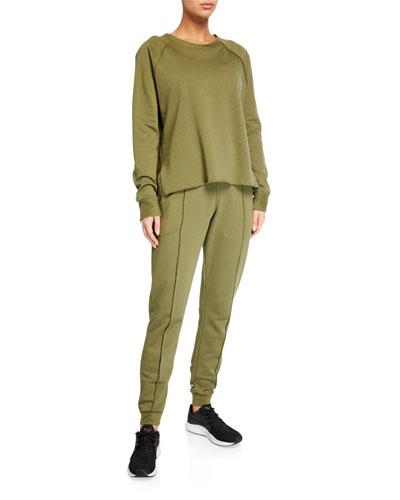 Cotton Fleece Raglan Sleeve Pullover and Matching Items