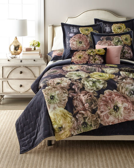 Designers Guild Le Poeme de Fleurs Midnight King Duvet Cover
