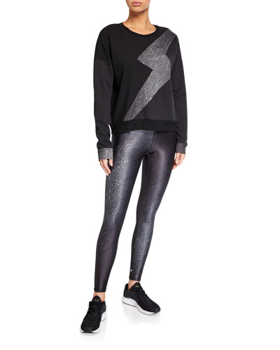 Ribbed Lightning Bolt Crewneck Sweatshirt and Matching Items