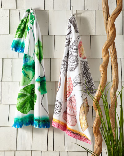 Shell Bay Peony Beach Towel and Matching Items