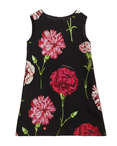 Girl's Sleeveless Floral Dress  Size 2-6  and Matching Items