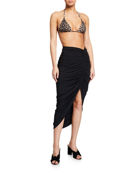 Veronica Beard Cala Leopard-Print Triangle Bikini Top