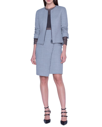 Pointed Side Twill Short Jacket and Matching Items