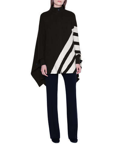 Cashmere Diagonal-Striped Pullover Sweater and Matching Items