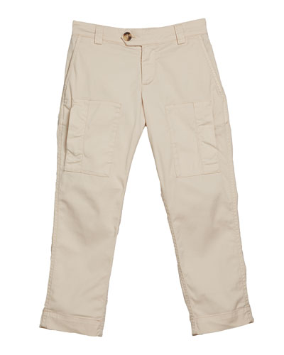 Boy's Cotton Cargo Pants, Size 8-10 and Matching Items