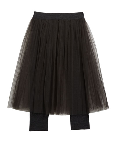 Girl's Tulle Skirt with Jersey Leggings, Size 4-6 and Matching Items