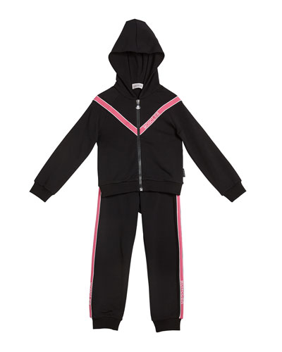 Girl's Two-Piece Jogging Set w/ Logo Taping  Size 4-6  and Matching Items