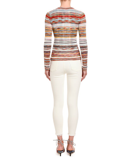 Missoni Striped V-Neck Cardigan Sweater