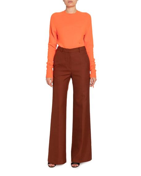Victoria Beckham Cashmere Tie-Cuff Sweater