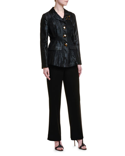 Pleated Mesh Tortoiseshell Button Jacket and Matching Items