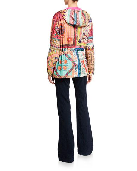 Etro Mosaic Patchwork Lightweight Quilted Jacket