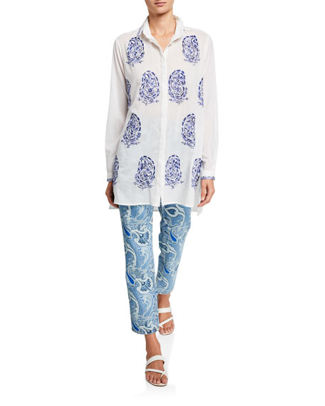 Etro Voile Paisley Embroidered Tunic