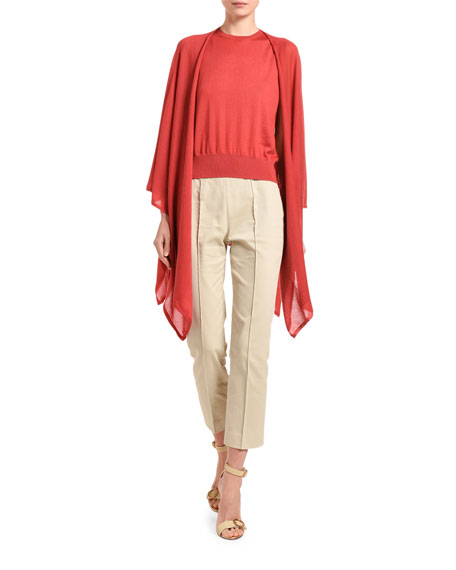 Agnona Cashmere Featherweight Open-Front Poncho