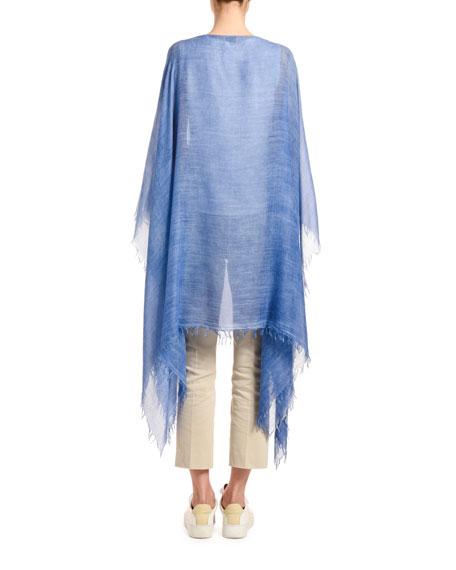 Agnona Cashmere Cotton Knit Poncho