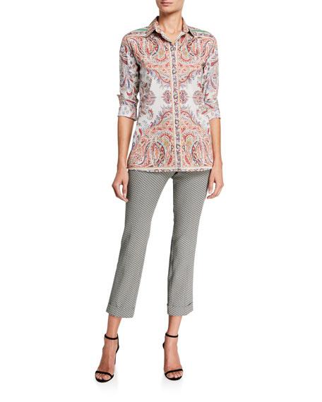 Etro Cotton Paisley Placed Fern Shirt