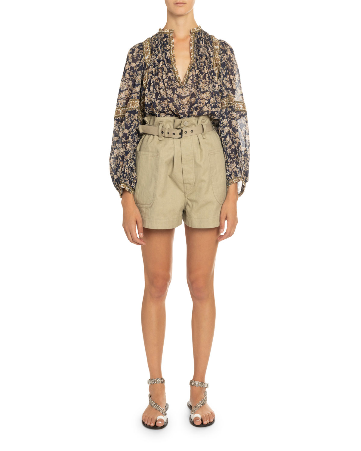 Violette Printed Long Sleeve Top by Etoile Isabel Marant