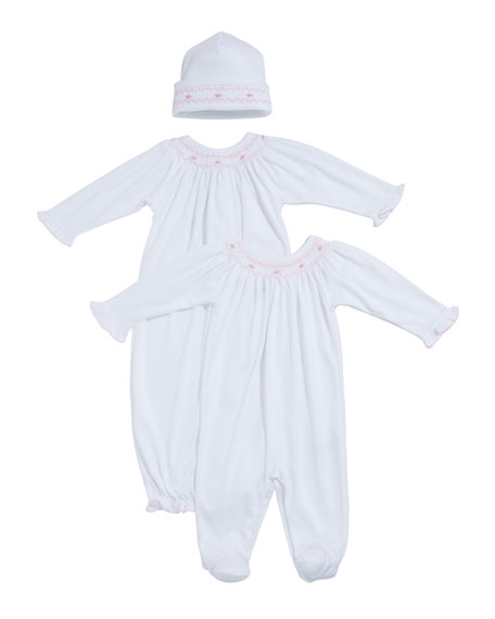 Kissy Kissy CLB Summer Smocked Bishop Sack, Size Newborn-S