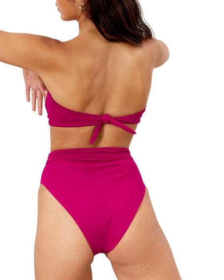 Mara Hoffman Abigail Solid Bandeau Bikini Top