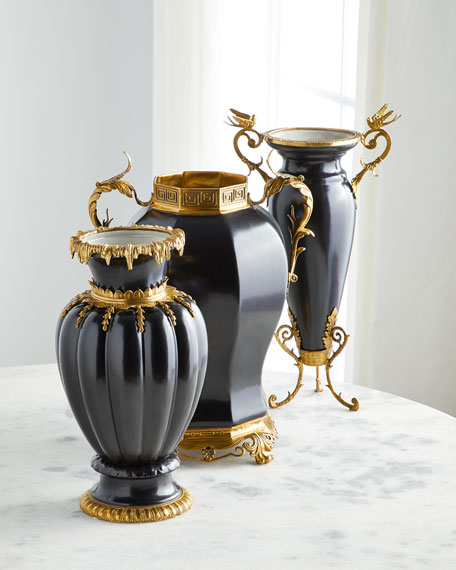 Global Views Brass Decorated Vase