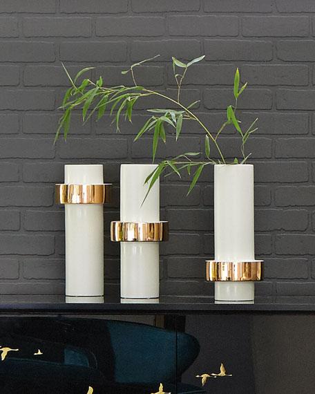 High Golden Ring Vase