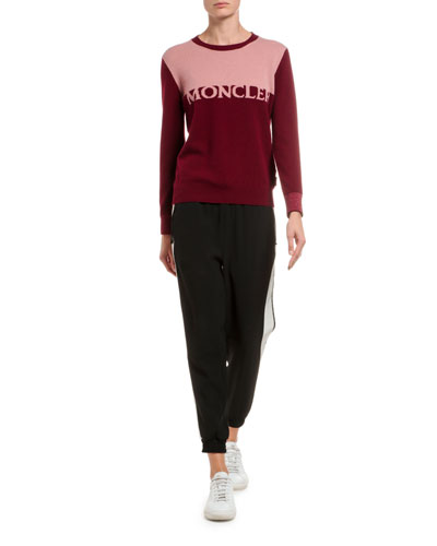 Bicolor Wool/Cashmere Logo Sweater and Matching Items