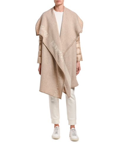 Mantella Relaxed Puffer-Sleeve Wool Coat and Matching Items