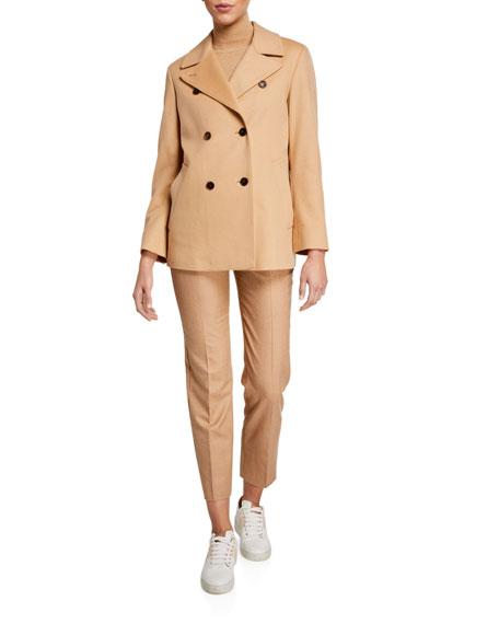 Agnona Cashmere Double-Breasted Pea Coat