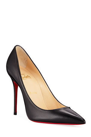 Christian Louboutin So Kate Patent Pointed-Toe Red Sole Pump Kate Red Sole Pumps, Black