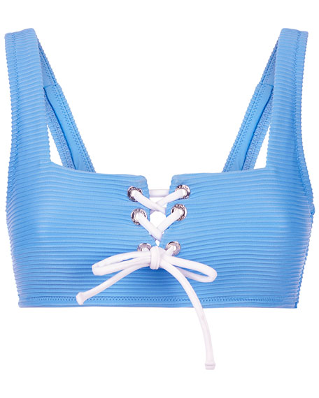 Heidi Klein Lace-Up Square-Neck Bikini Top