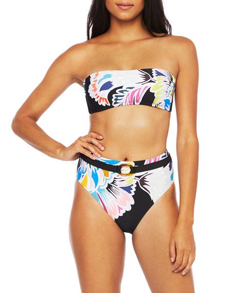 Trina Turk Seychelles Bandeau  Bikini Top with Sash Back