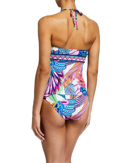 Trina Turk Paradise Plume Tankini Swim Top