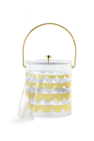 kate spade new york gold scallop acrylic ice bucket gold scallop acrylic pitcher