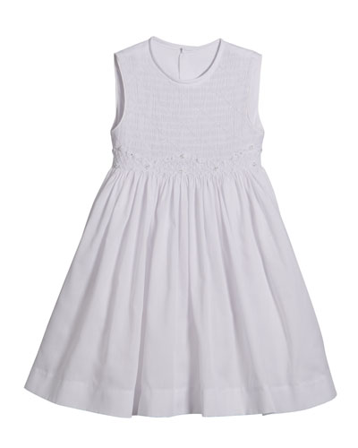 White Smocked Dress, Size 2-4T and Matching Items