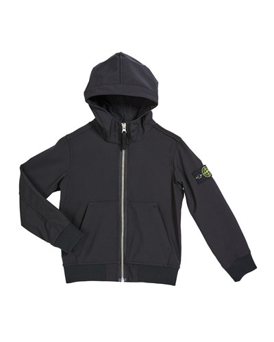 Boy's Tech Hooded Zip-Up Jacket  Size 6-8