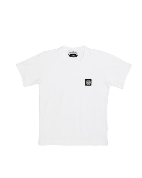 Stone Island Boy's Logo Patch Short-Sleeve Tee, Size 2-4