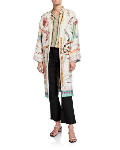 Etro Giraffe Zoo Silk Wrap Jacket