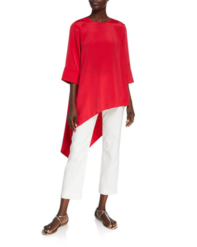 Silk Crepe de Chine Asymmetric Top and Matching Items