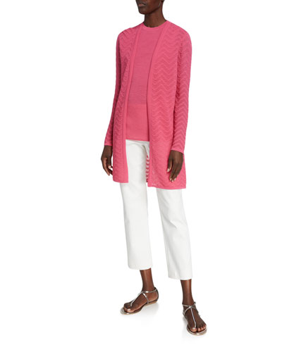 Chevron-Knit Duster Cardigan and Matching Items