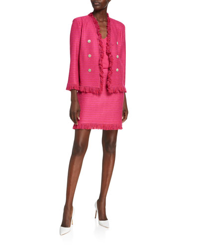 Poppy Textured 3/4-Sleeve Jacket and Matching Items