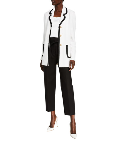 Luxury Boucle Knit Long Jacket and Matching Items