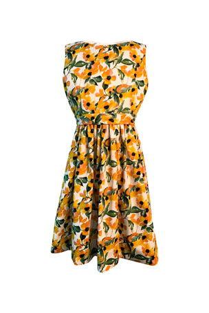 Helena Girl's Floral Print Sleeveless Dress, Size 4-6 Girl's Floral Print Sleeveless Dress, Size 7-14