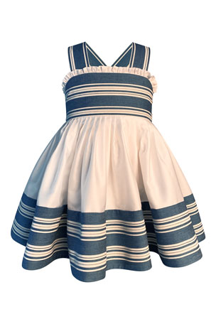 Helena Girl's Striped Sun Dress, Size 2-6 Girl's Striped Sun Dress, Size 7-10