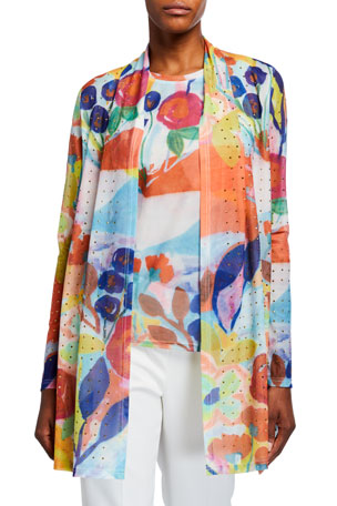 Berek Petite My Colorful Painting Long Cardigan Petite My Colorful Painting Long Tank