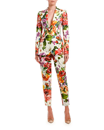 Vibrant Floral Print Blazer and Matching Items