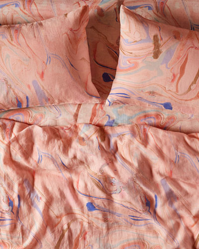 Marble Magic Linen Duvet Cover - King and Matching Items