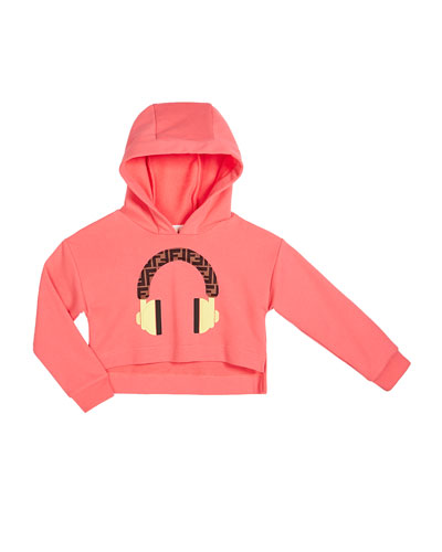 Girl's Hooded Sweatshirt w/ Logo Headphone Graphic  Size 4-6 and Matching Items
